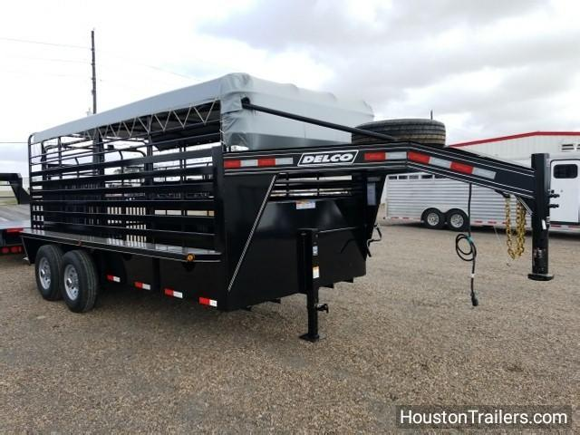 "2018 Delco Trailers 16' x 6'8"" Bar Top Livestock Trailer DEL-27"