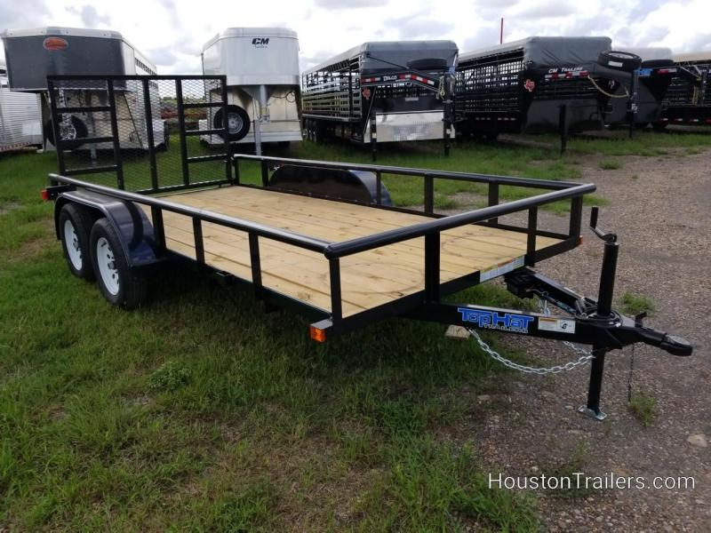 "2019 Top Hat Trailers 14' x 77"" EP Utility Trailer TH-141"