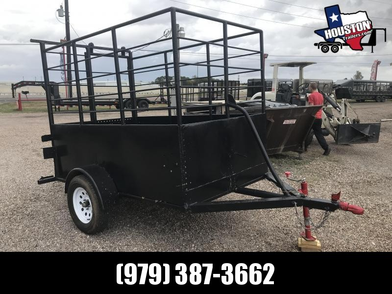 1990 Homemade 8' x 5' BP Livestock 3k Livestock Trailer