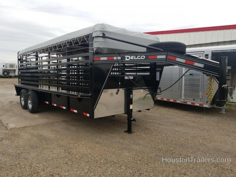 2019 Delco Trailers 20' Bar Top Livestock Trailer DEL-47