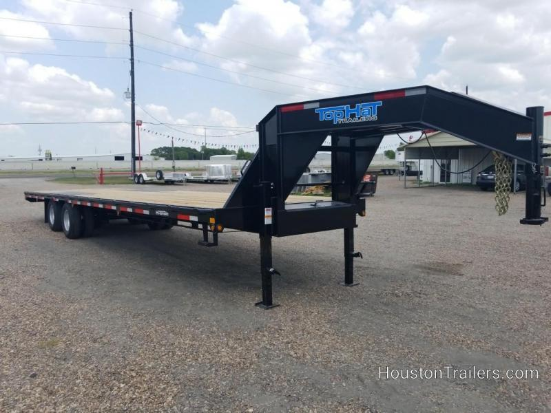 2018 Top Hat Trailers 32' GN 240 Flatbed Trailer TH-137
