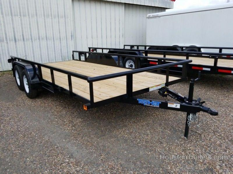 "2019 Top Hat Medium Pipe 83"" x 16' Utility Trailer TH-182"