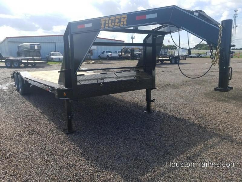 2018 Tiger 24' Driveover Fenders 14k Equipment Trailer TI-24