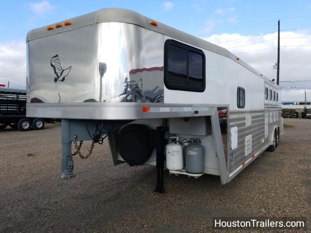 2000 Bloomer Trailer 28' x 8' 4 Horse LQ 12' Shortwall Horse Trailer co-1021