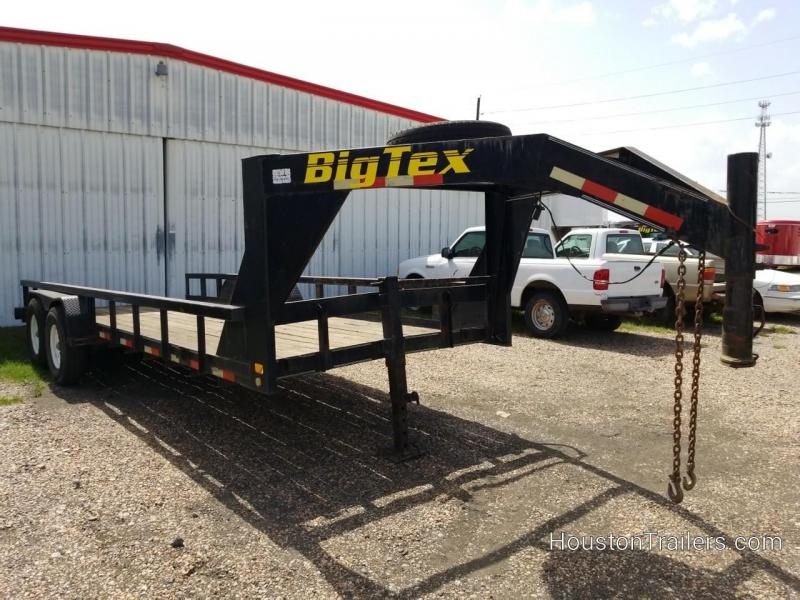 2003 Big Tex Trailers 20' Low Boy Equipment Trailer 8065
