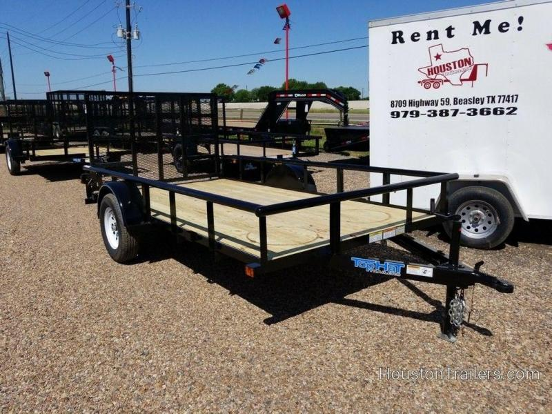 "2019 Top Hat Derby Sr Angle 77"" x 12' Utility Trailer TH-176"