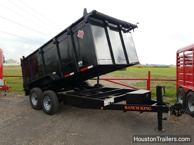 "2017 Ranch King Trailers 14' x 6'10"" 14k Dump Trailer RK-35"