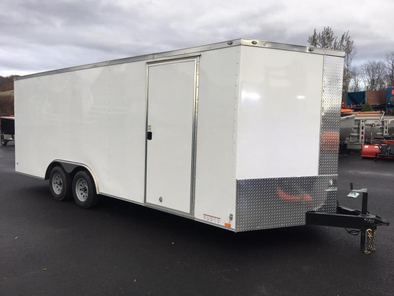 DIAMOND CARGO 2019 8.5' x 20' TANDEM AXLE WHITE ENCLOSED CARGO TRAILER