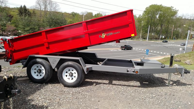 BWISE 2017 6' X 12' RED LOW PROFILE DUMP TRAILER