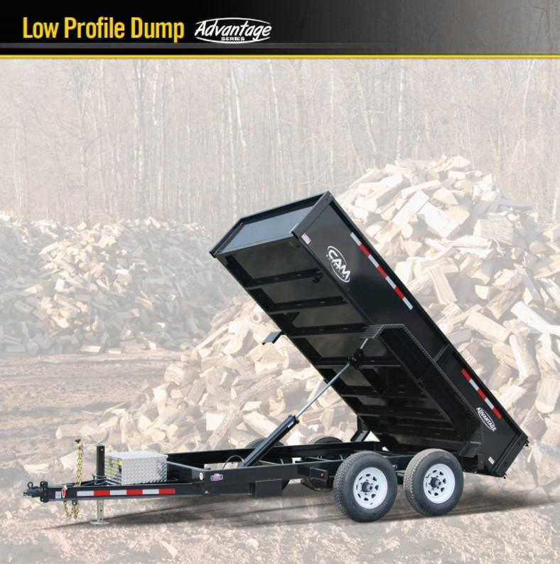 CAM 2018 5-TON 6' x 12' FT LOW PROFILE DUMP TRAILER