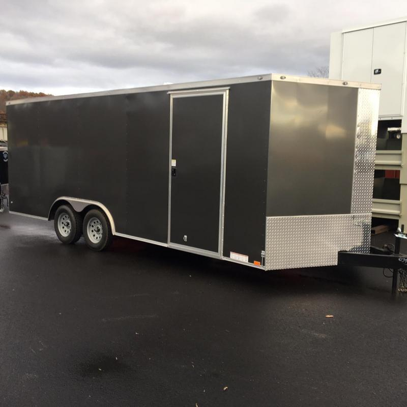 DIAMOND CARGO 2019 8.5' x 20' TANDEM AXLE GREY ENCLOSED CARGO TRAILER