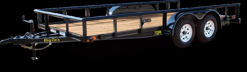 BIGTEX 2017 70PI 7' x 14' Tandem Axle Pipe UTILITY TRAILER