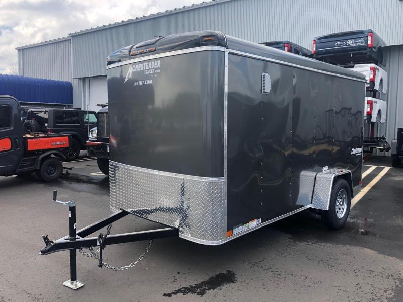 HOMESTEADER 2019 6' x 12' GRAY ENCLOSED TRAILER