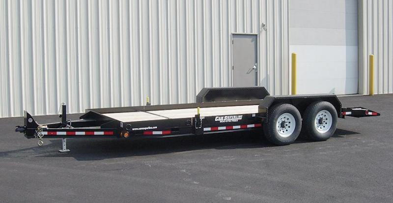 CAM 2018 7CAM20 8.5' X 20' SPLIT TILT LOW PROFILE UTILITY TRAILER
