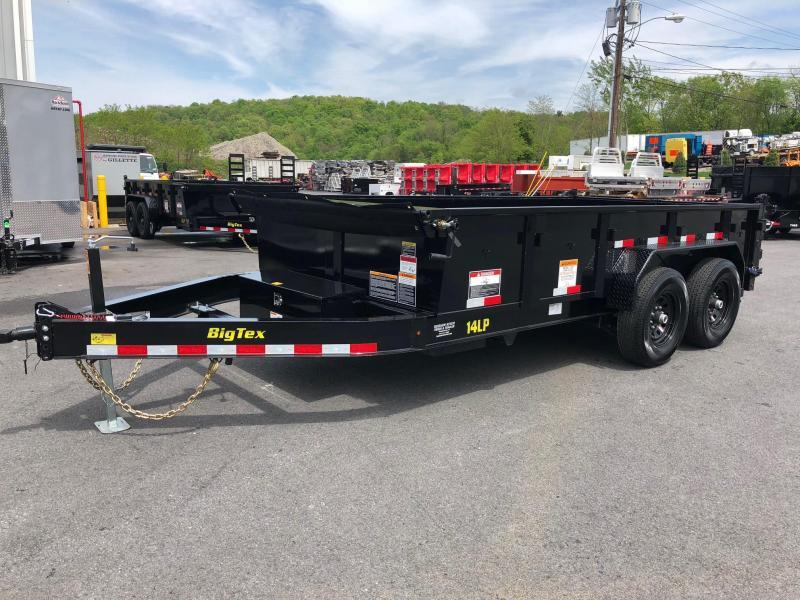 BIGTEX 2018 7' x 14' TANDEM AXLE LOW PROFILE DUMP TRAILER