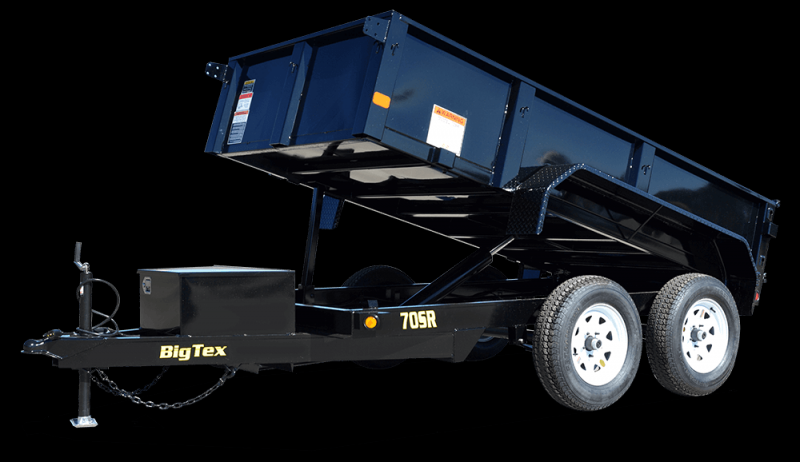BIGTEX 2018 5' x 10' TANDEM AXLE BLACK DUMP TRAILER