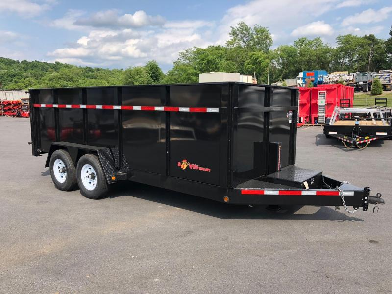 BWISE 2018 7' x 16' High Side BLACK DUMP TRAILER