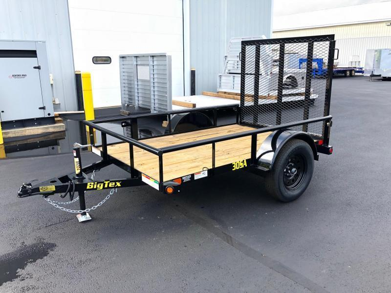 BIGTEX 2020 30 SINGLE AXLE 5' x 8' LANDSCAPE / UTILITY TRAILER