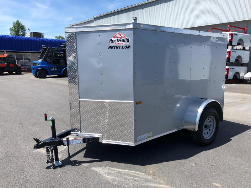 ROCK SOLID 2018 5' x 8' SINGLE AXLE SILVER ENCLOSED TRAILER