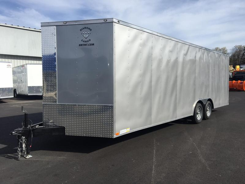 DIAMOND CARGO 2018 8.5' x 24' TANDEM AXLE SILVER FROST ENCLOSED CARGO TRAILER
