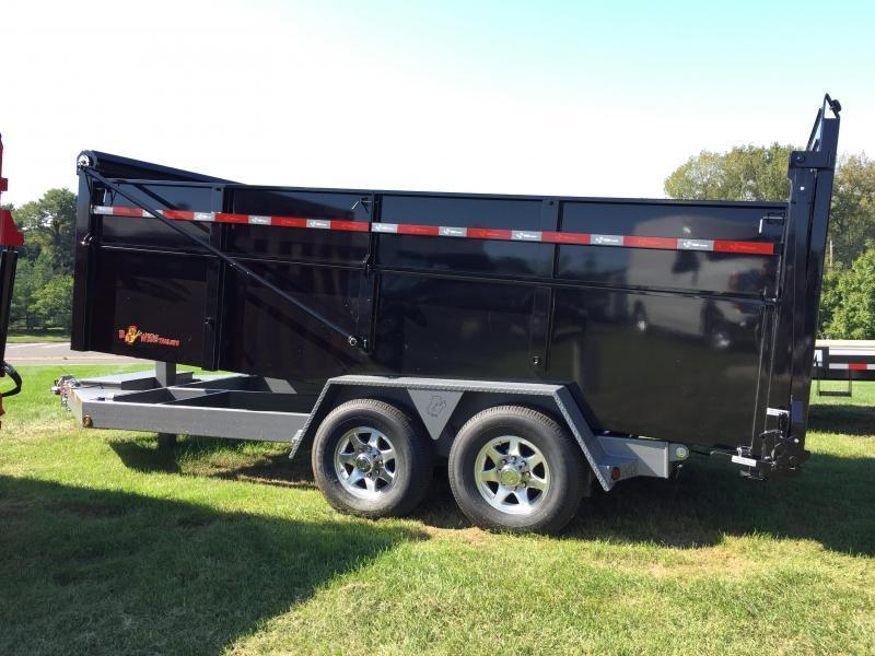 BWISE 2018 6.10'X 16' BLACK ULTIMATE DUMP LOW PROFILE TRAILER (DU16-15)
