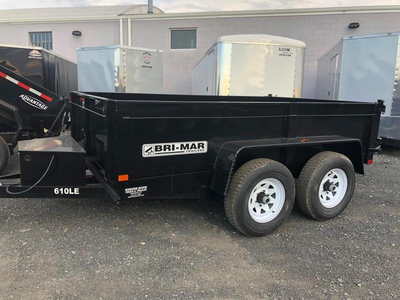 BRI-MAR 2019 6' x 10' TANDEM AXLE LOW PROFILE DUMP TRAILER 9990 LB. GVW