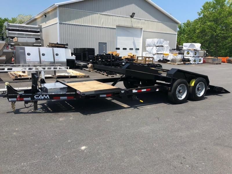CAM 2019 Low Profile Extra Wide 8-Ton Split Tilt Utility Equipment Trailer (8CAM21STTXW)