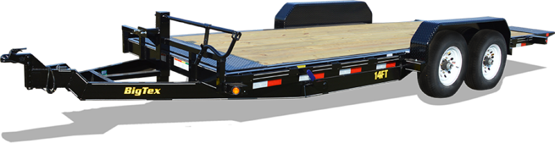 BIGTEX 2019 7' x 20' HEAVY DUTY FULL-TILT BED EQUIPMENT TRAILER 14FT-20