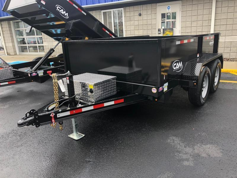 CAM ADVANTAGE 2019 6' x 10' LOW PROFILE DUMP TRAILER  10000 lb. GVW