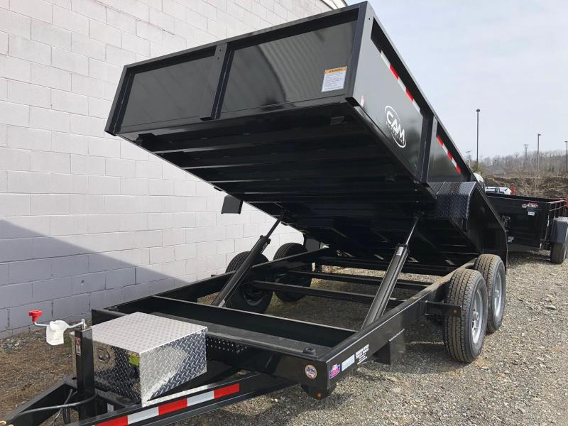 CAM 2018 6' x 14' LOW PROFILE HEAVY DUTY DUMP TRAILER