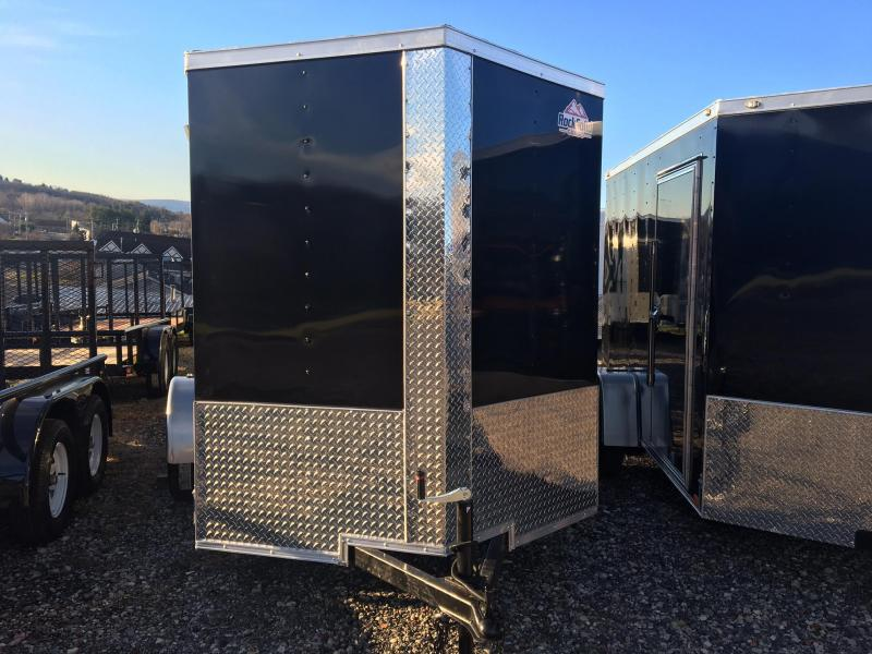 DIAMOND CARGO 2018 6' x 10' SINGLE AXLE BLACK ENCLOSED TRAILER