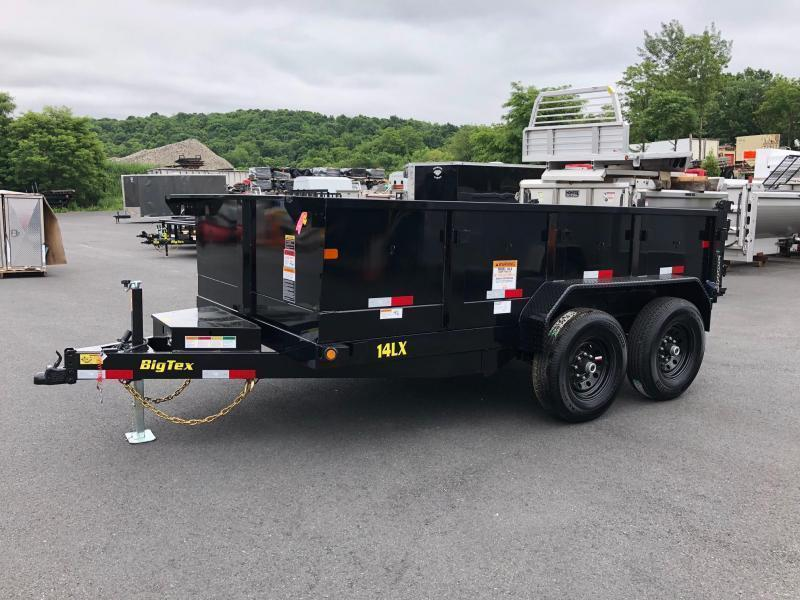 BIGTEX 2019 14LX-12 (7' x 12') BLACK HEAVY DUTY TANDEM EXTRA WIDE DUMP TRAILER WITH TARP KIT