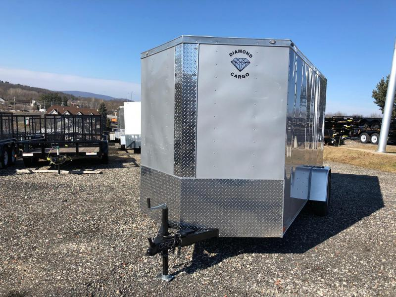 DIAMOND CARGO 2018 6' x 12' SINGLE AXLE SILVER FROST ENCLOSED TRAILER