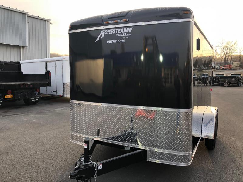 HOMESTEADER 2018 7' x 12' BLACK CHALLENGER ENCLOSED TRAILER