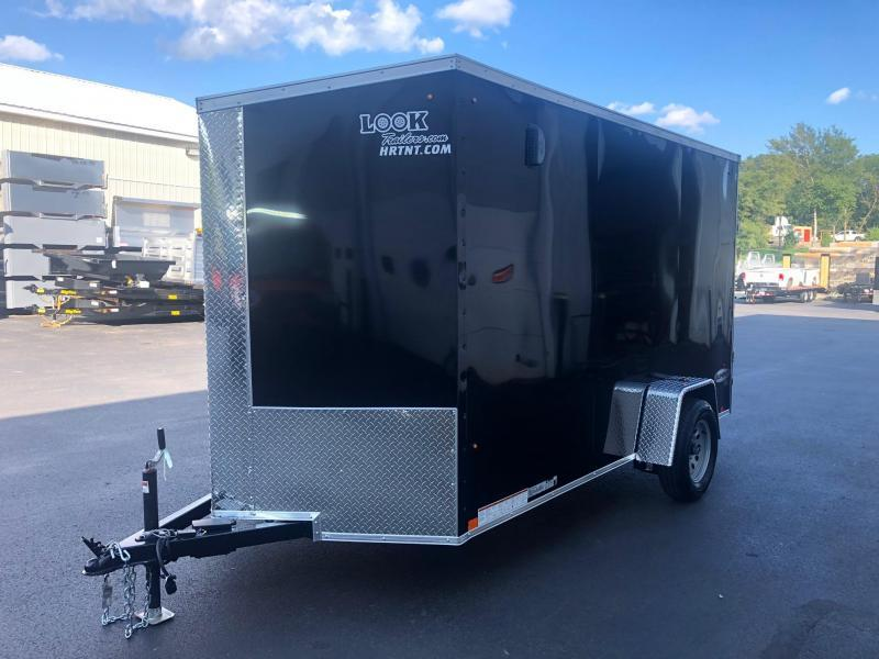 LOOK 2020 6 x 12' ELEMENT BLACK CARGO  ENCLOSED TRAILER