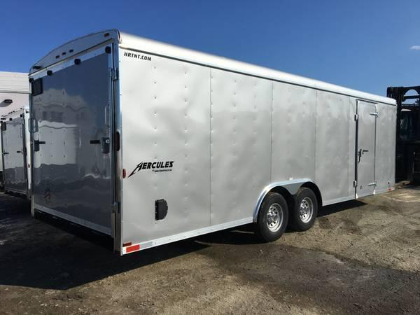 HOMESTEADER 2018 8' x 20' HERCULES SILVER ENCLOSED TRAILER
