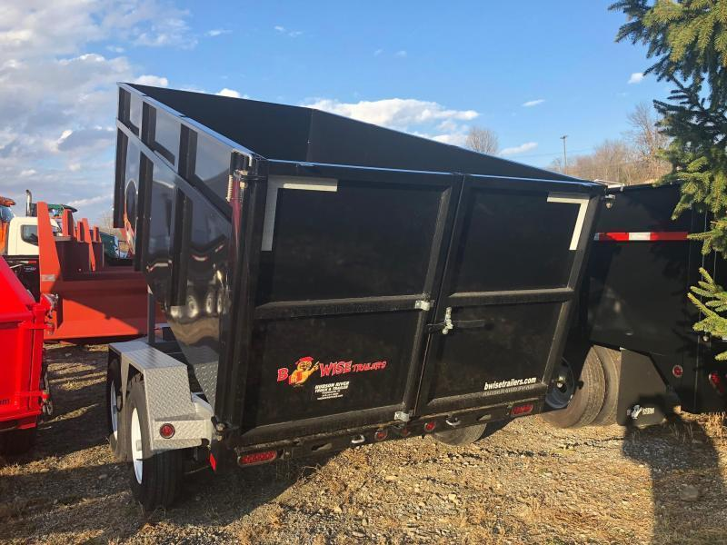 BWISE 2019 6' X 12' LOW PROFILE DUMP TRAILER BLACK WITH HAMMERTONE