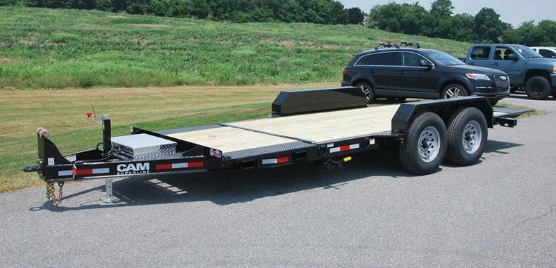 CAM 2019 8.5 X 21  Low Profile Extra Wide 7-Ton Split Tilt Utility Equipment Trailer (7CAM21STTXWP)