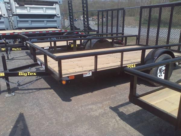 BIGTEX 2018 35SA 6.5' x 12' SINGLE AXLE UTILITY TRAILER