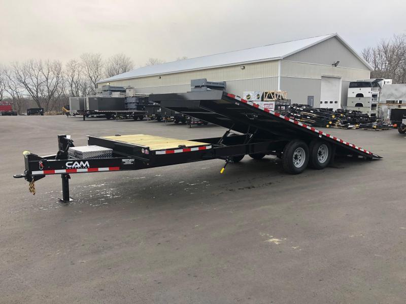 CAM 2019 8.5' X 24' 7 TON DECKOVER SPLIT TILT EQUIPMENT TRAILER