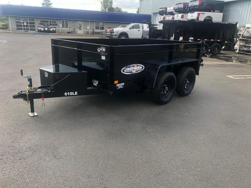 BRI-MAR 2019  6' x 10' TANDEM AXLE LOW PROFILE DUMP TRAILER