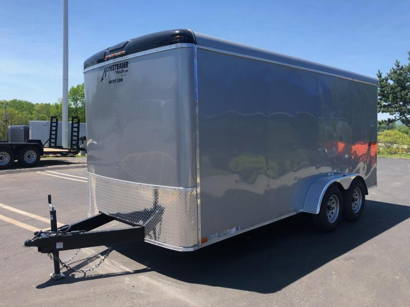 HOMESTEADER 2019  7' x 16' TANDEM AXLE SILVER CHALLENGER WITH EXTENDED TRIPLE TUBE TONGUEENCLOSED TRAILER