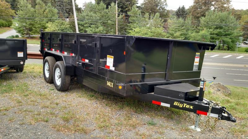 BIGTEX 2018 14LX-14 (7' x 14') BLACK HEAVY DUTY TANDEM EXTRA WIDE DUMP TRAILER