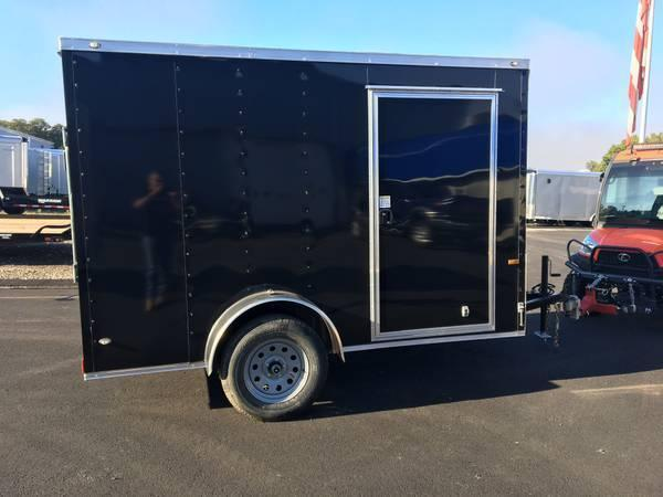 ROCK SOLID 2019 6' x 10' SINGLE AXLE BLACK ENCLOSED TRAILER