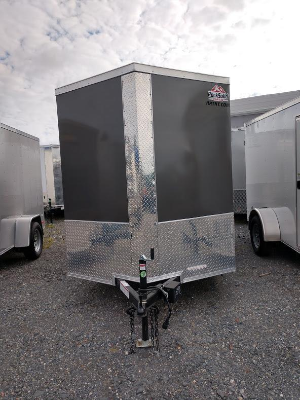 ROCK SOLID 2019 6' x 10' SINGLE AXLE CHARCOAL GRAY SEMI-SCREWLESS ENCLOSED TRAILER