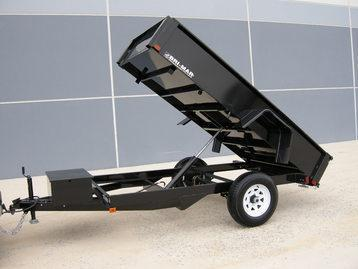 BRI-MAR 2018 5' x 8' BLACK DUMP TRAILER