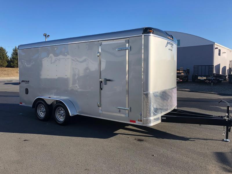 HOMESTEADER 2018 7' x 16' SILVER HERCULES ENCLOSED TRAILER