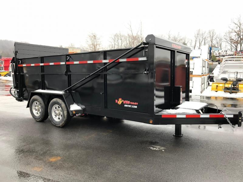 BWISE 2019 6.10' X 16' BLACK ULTIMATE DUMP LOW PROFILE TRAILER (DU16-15)