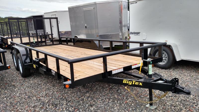 BIGTEX 2017 70PI 7' x 18 Tandem Axle Pipe Utility Trailer