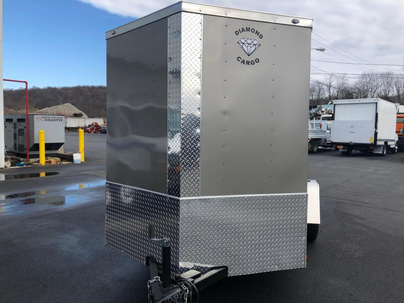 DIAMOND CARGO 2018 6' x 10' SINGLE AXLE PEWTER ENCLOSED TRAILER